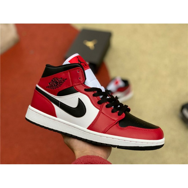 Mens/Womens Air Jordan 1 Mid Chicago Toe 554724-069