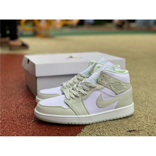 Mens/Womens Newest Air Jordan 1 Mid Spruce Aura Shoes