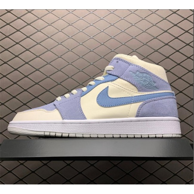 Mens/Womens 2021 New Air Jordan 1 Mid Grey Tan For Sale