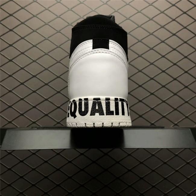 Mens/Womens Air Jordan 1 Retro High Equality Black/White-Metallic Gold