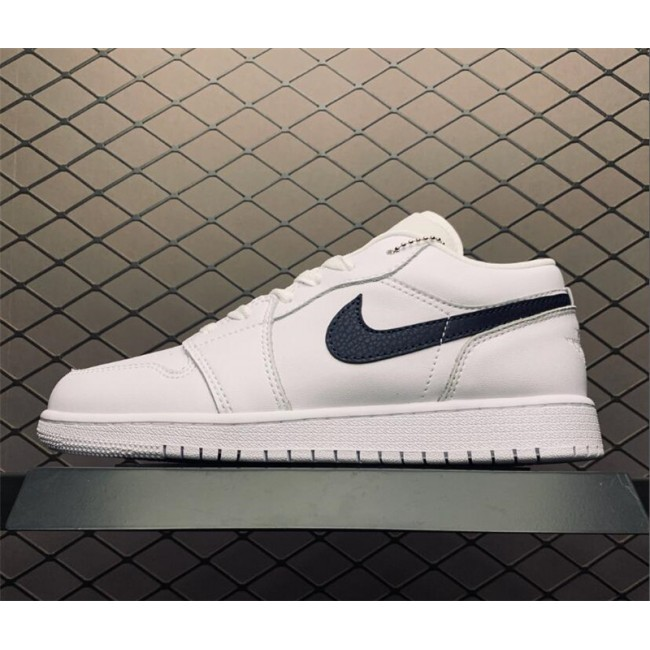 Mens/Womens Air Jordan 1 AJ1 Unisex Low White Black To Buy