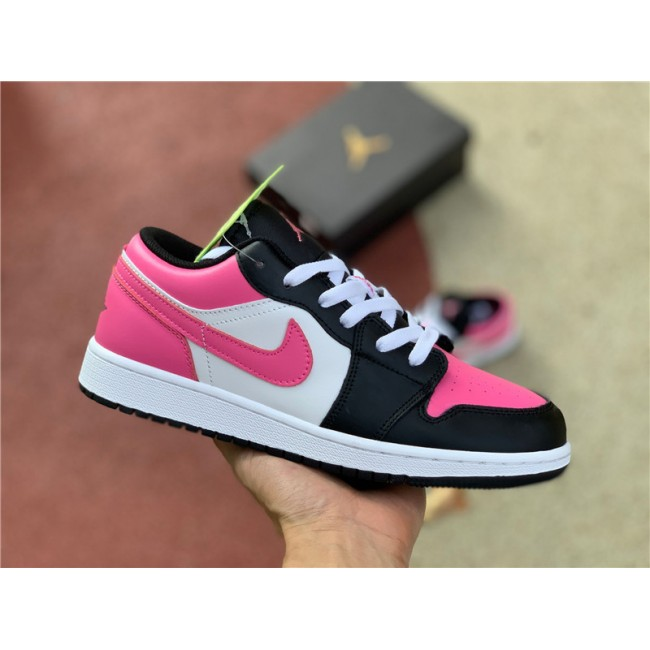 Womens Air Jordan 1 Low GS Pinksicle Black Pink White