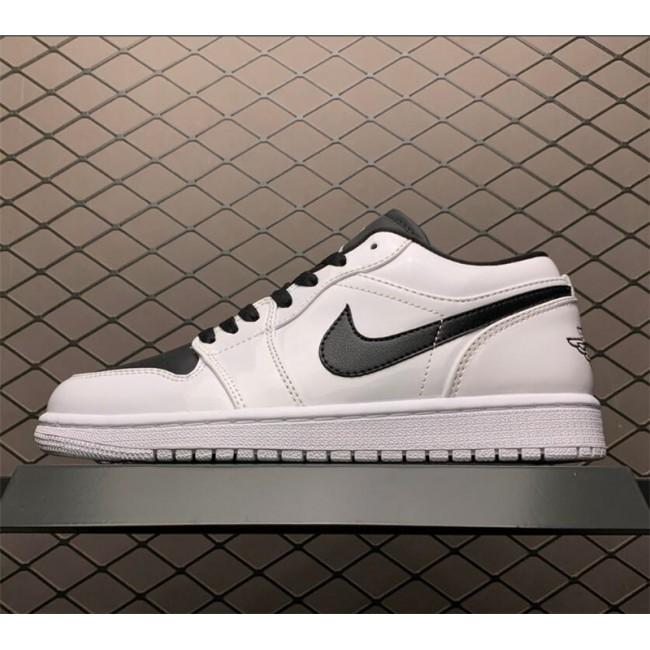 Mens/Womens Air Jordan 1 Low White Black Sneaker To Buy