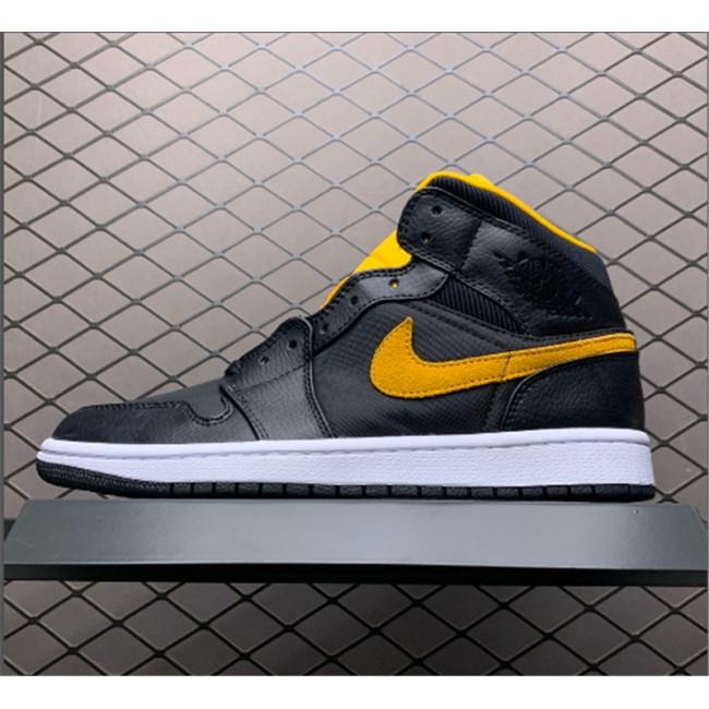 Mens Shop Now Air Jordan 1 Mid Black/University Gold