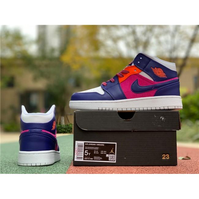 Womens Air Jordan 1 Mid Corduroy Purple Pink