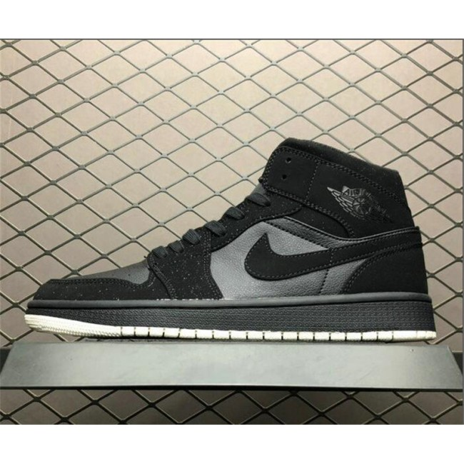 Mens Air Jordan 1 Mid Glitter Cool Grey/Wolf Grey