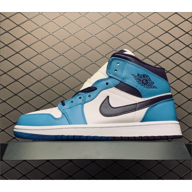 Mens/Womens Air Jordan 1 Mid Hornets Blue Purple White