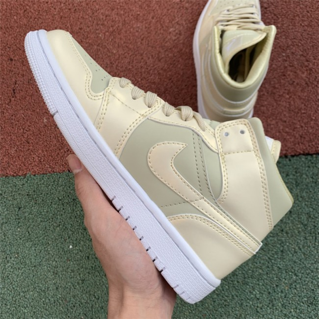 Mens Air Jordan 1 Mid SE Lemon Yellow Sneakers For Sale
