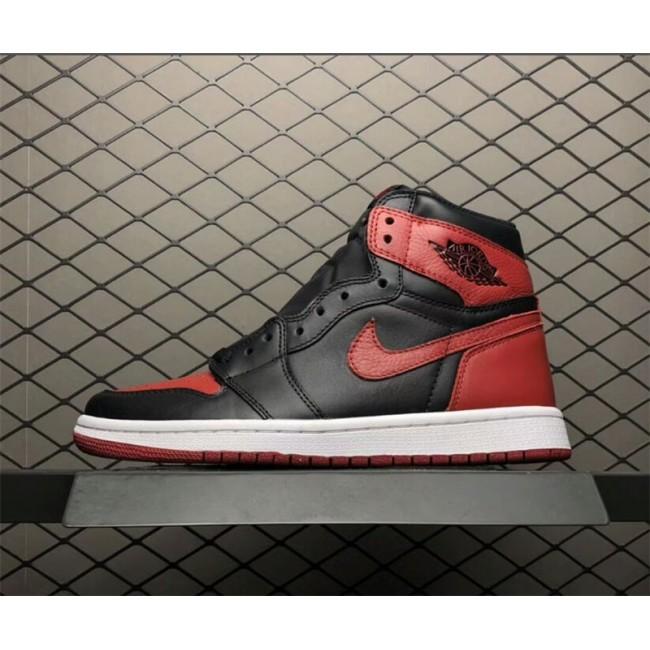 Mens Air Jordan 1 Retro High OG Bred Banned 555088-001