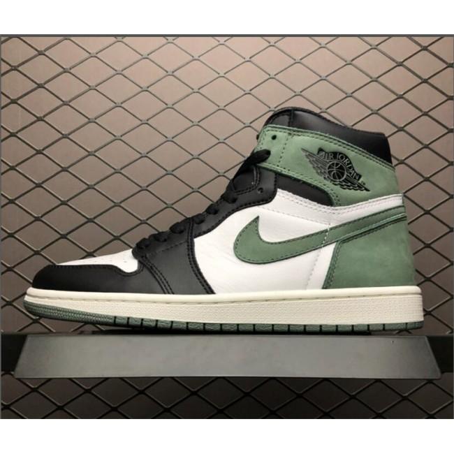 Mens Air Jordan 1 Retro High OG Clay Green Summit White/Black