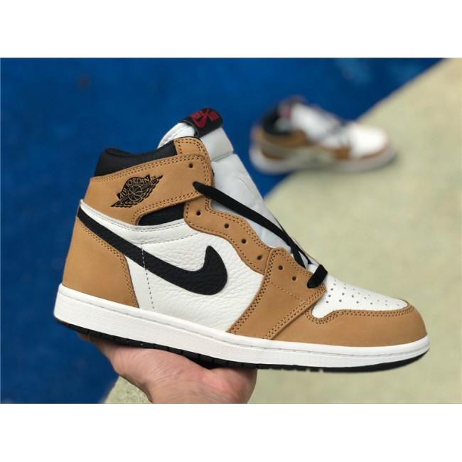 Mens Air Jordan 1 Retro High OG Wheat Gold Harvest/Black