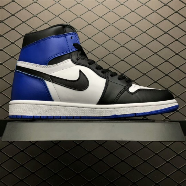 Mens Air Jordan 1 x Fragment Design White/Sport Royal-Black