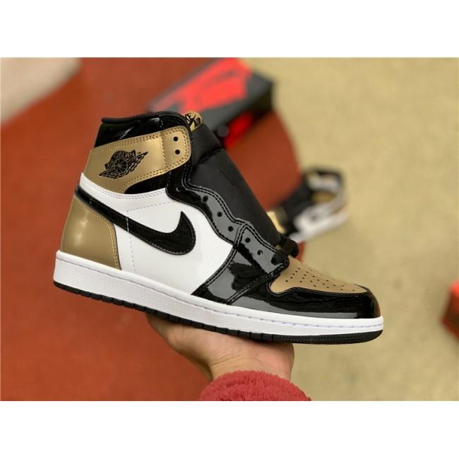 Mens Air Jordan Retro 1 High OG NRG Gold Toe 861428-007