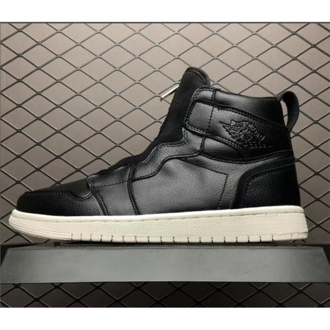 Mens/Womens Air Jordan 1 High Zip Triple Black Black/University Red