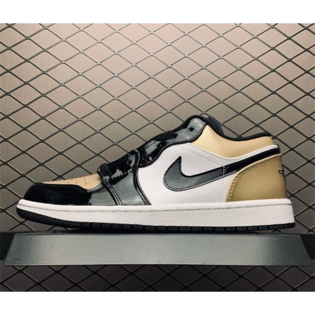 Mens/Womens Buy Air Jordan 1 Low Gold Toe Shoes Online
