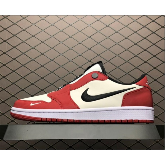 Mens/Womens Buy Air Jordan 1 Low Slip Chicago Varsity Red/Black