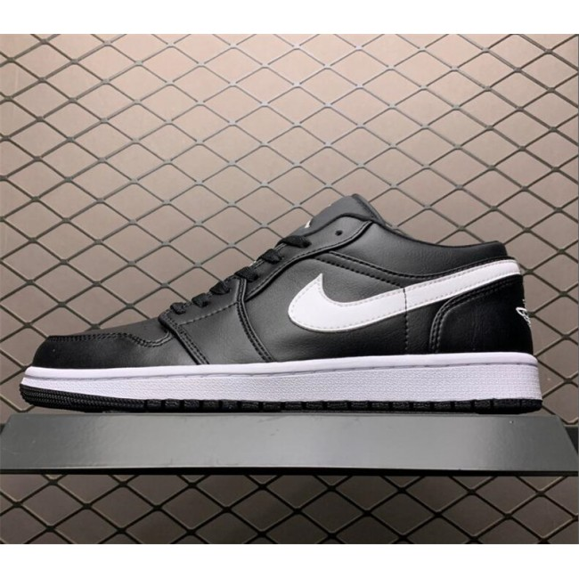 Mens/Womens Buy Air Jordan 1 Low Yin Black/White Shoes