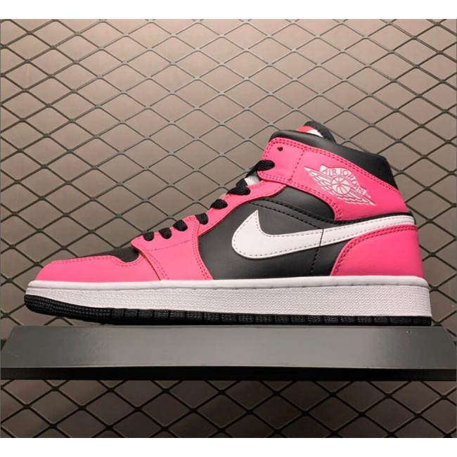 Mens/Womens Buy Air Jordan 1 Mid GS Pinksicle Black/White