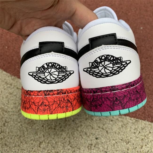Womens Buy Cheap Air Jordan 1 Low GS Multi-Color