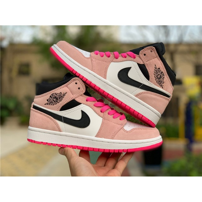 Womens Buy Air Jordan 1 Mid SE Crimson Tint/Hyper Pink
