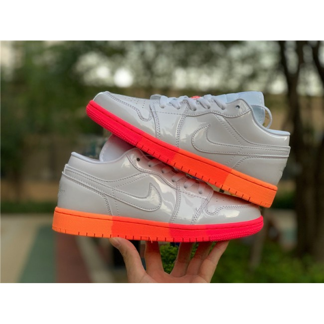 Womens Cheap Air Jordan 1 Low GS White Crimson Mango