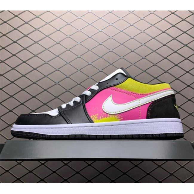 Mens/Womens Cheap Air Jordan 1 Low SE Cyber Basketball Shoes