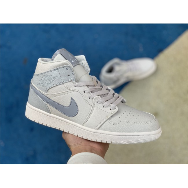 Mens/Womens Cheap Air Jordan 1 Mid SE Bone Grey