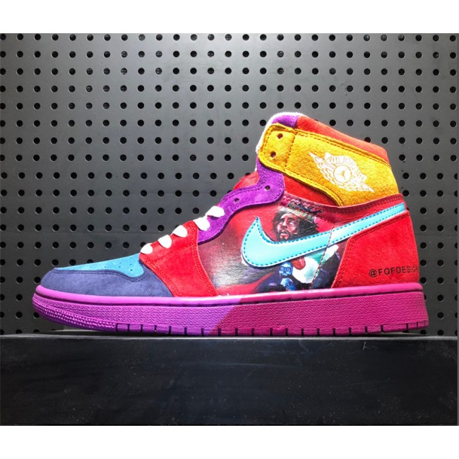 Mens FOF Designs x Air Jordan 1 High Custom Pirate