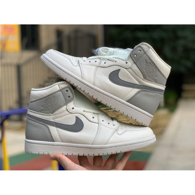Mens/Womens Air Jordan 1 Mid Light Bone Wolf Grey
