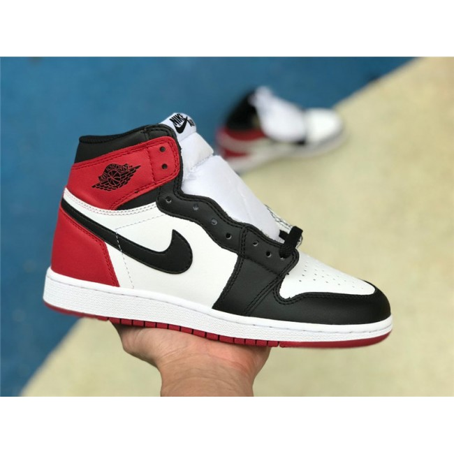 Womens Air Jordan 1 Retro BG Black Toe 575441-125