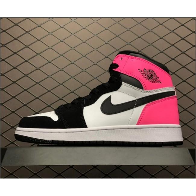 Womens Air Jordan 1 Retro High OG GS Valentines Day Black-Hype
