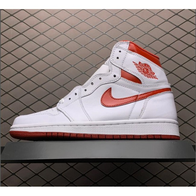 Mens Latest Air Jordan 1 Retro High OG Metallic Red White