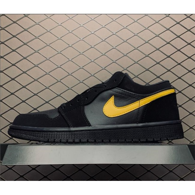 Mens Air Jordan 1 Low Black Gold For Sale