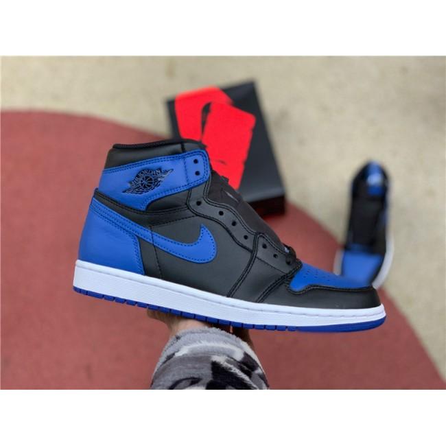 Mens Air Jordan 1 Retro High OG Royal Black Blue