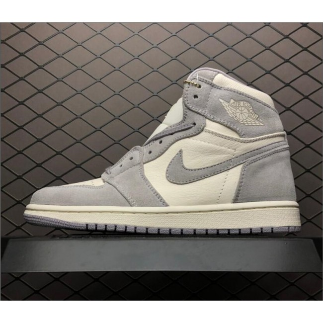 Mens Air Jordan 1 Retro High Pale Ivory AH7389-101