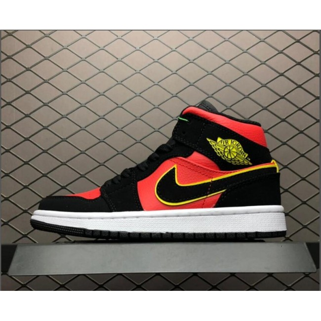 Mens/Womens Air Jordan 1 Mid Hot Punch BQ6472-006