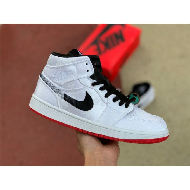 Mens/Womens New Release CLOT x Air Jordan 1 Mid Fearless