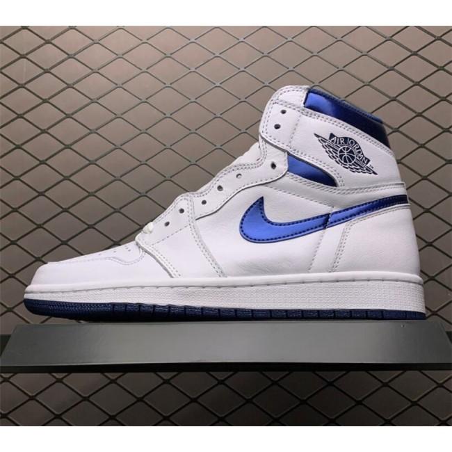 Mens Nike Air Jordan 1 Retro High OG Metallic Navy