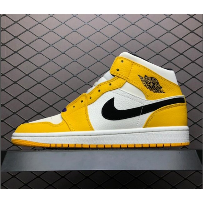 Mens Shop Air Jordan 1 Mid SE Lakers White Purple