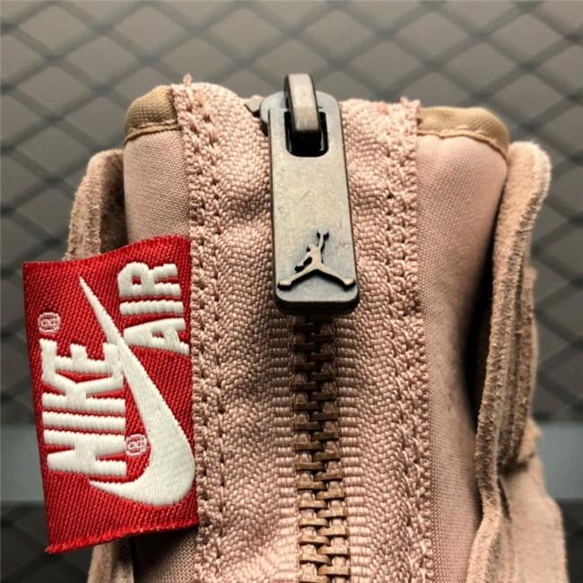 Womens Air Jordan 1 High Zip Particle Beige/Metallic Red Bronze
