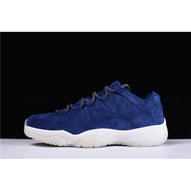 Mens 2018 Air Jordan 11 Retro Low RE2PECT Binary Blue-Sail