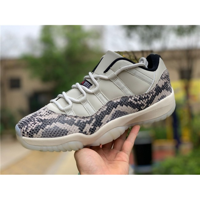 Mens/Womens 2019 Air Jordan 11 Low SE Snakeskin Light Bone