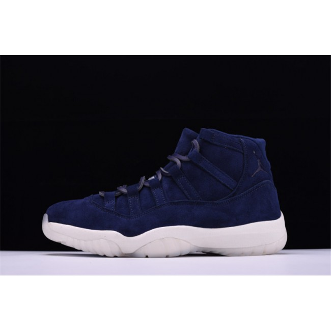 Mens Derek Jeter's Air Jordan 11 Retro RE2PECT Navy Suede For Sale