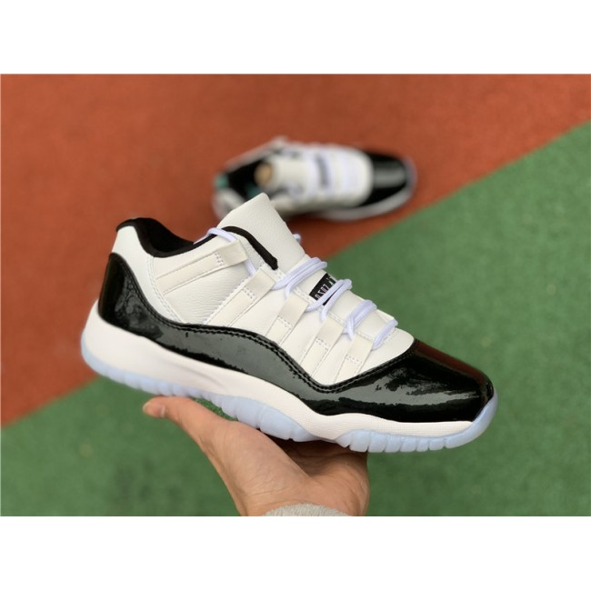Womens Air Jordan 11 Low Retro GS Emerald White/Emerald Rise-Black