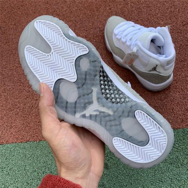 Mens/Womens Air Jordan 11 Metallic Silver-Vast Grey For Sale