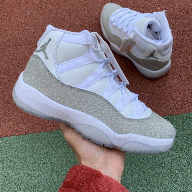 Mens/Womens Air Jordan 11 Metallic Silver-Vast Grey For Sale