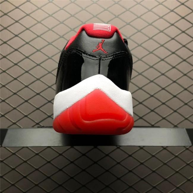 Mens Air Jordan 11 Retro Low Bred Black Red