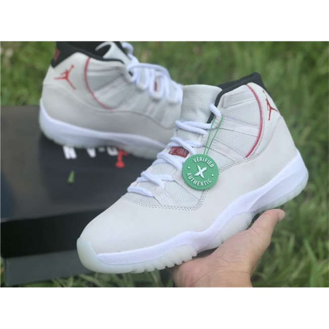 Mens/Womens Air Jordan 11 Retro Platinum Tint/Sail-University Red