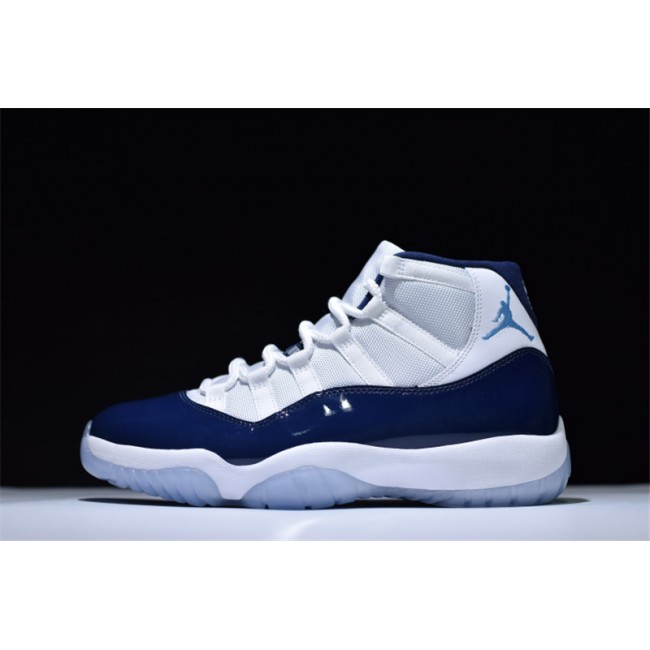 Mens Air Jordan 11s Retro Win Like 82 White/Midnight Navy