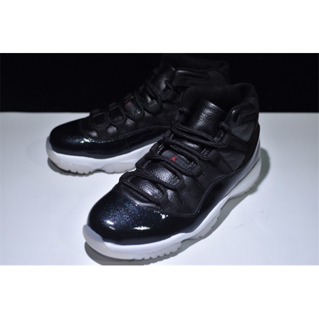 Mens/Womens Brand New Air Jordan 11 Retro 72 10 Black/Gym Red-White